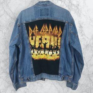 Rare // Vintage Def Leppard Jean Jacket